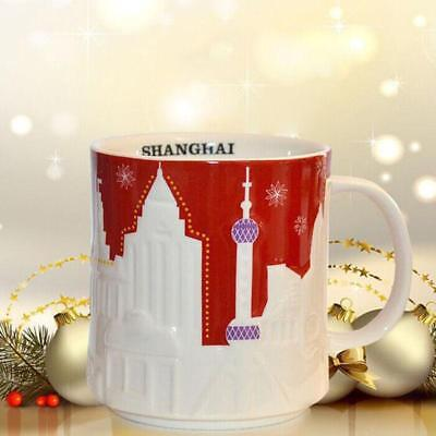 New Warm 16oz Coffee Mug Global Idol City Relief Shanghai Collector Series Mugs