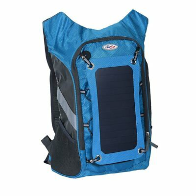 Blue MaadZmec Tech Solar Charger and Hydration Backpack
