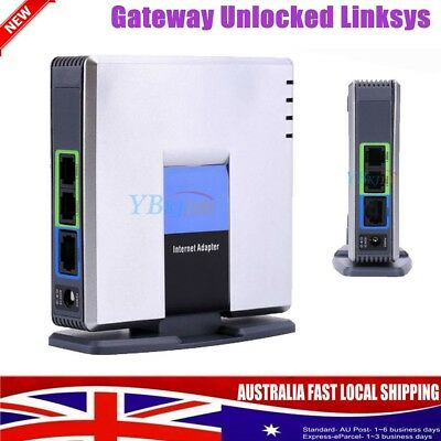 UNLOCKED LINKSYS CISCO PAP2T-NA PAP2T VOIP PHONE Adapter 2 Port SIP Gateway HOME