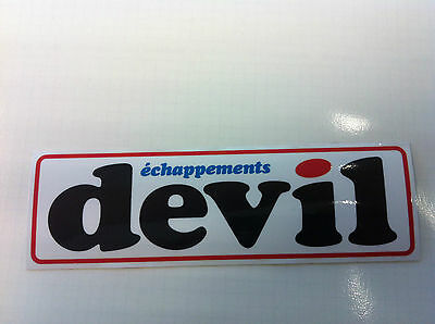 Autocollant Sticker Decal DEVIL échappements 16 cm X 5 cm