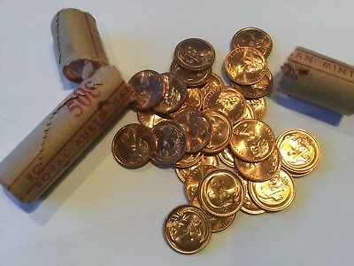 20 x 1979 Australian UNCIRCULATED 1 Cent Coins From R.A Mint Rolls