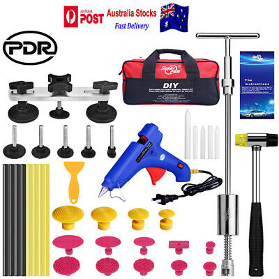 40x PDR Paintless Dent Repair Tool Dent Lifter Hail Removal Puller Bridge Hammer