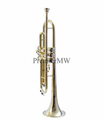 Sale New Design Brass Trumpet Big Bell For Proffeional W/ Case & Mp
