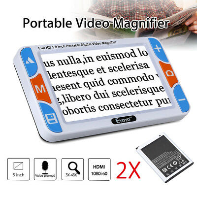 "5 ""3X-48X Portable Digital Amplificateur électronique de lecture + 2pcs Battery"