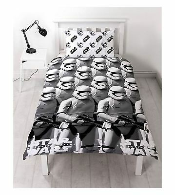 Brand New Star Wars The Force Awaken Reversible Single Duvet Bedroom Set