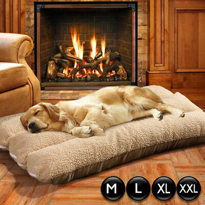 XL Large Dog Cat Mat Warm Soft Puppy Pets Bed Mattress Cushion Pillow Winter