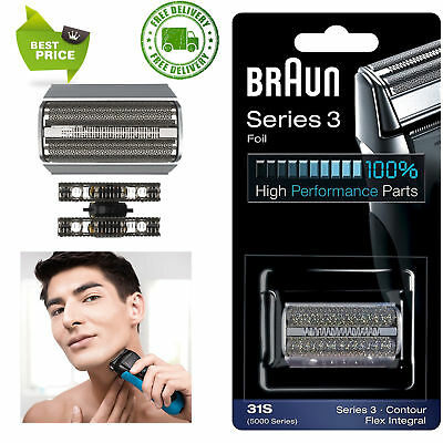Braun Series 3 Electric Shaver Replacement Foil Cartridge, 31S- COMPATIBLE WITH