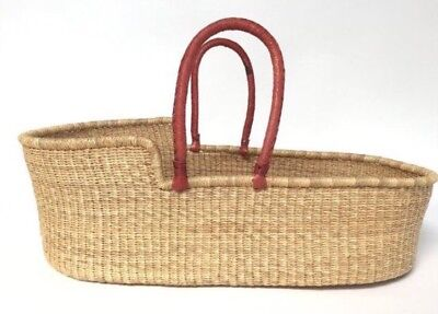 New Handwoven Moses Basket Baby Bassinet