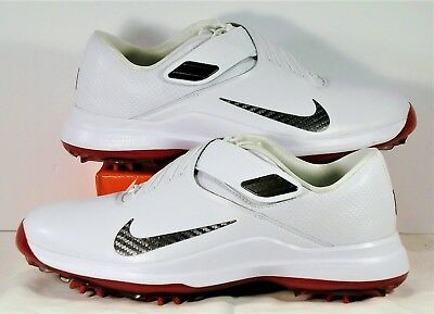 Nike TW 2017 Tiger Woods White   Red Mens Golf Shoes Sz 7 NEW 880955 100 acfd9aa5c
