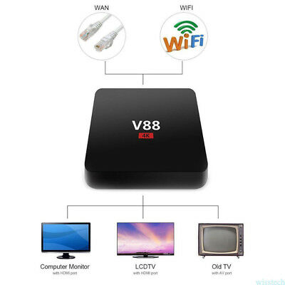 V88 4K Android 6.0 Smart TV BOX Latest RK3229 Quad Core HD 1080P WIFI + Touchpad