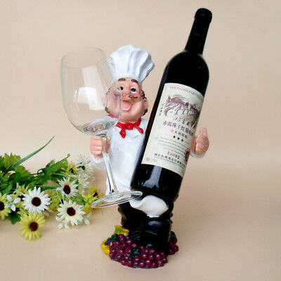 1Pcs Creative Figures Wine Rack Personality Chef Ornaments Resin Wine Rack Hot