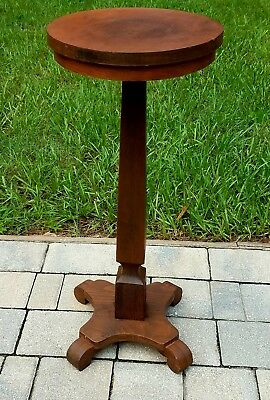 Antique arts & crafts pedestal stand candle plant stand ball feet 1900's