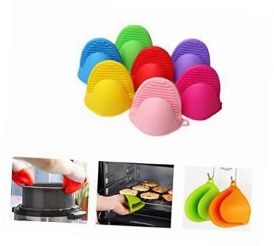 Silicone Pot Holder Oven Mini Mitt 1 Pair 2pc Cooking Pinch Grips Heat Resistant