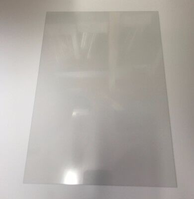 Clear A4 size Glazing Sheet For Dolls House Windows 0.5mm Thick