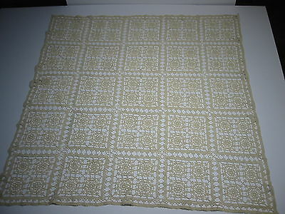 "Vintage Antique Handmade Crocheted  Doily  Circa 1850  (32"" by 32"")"