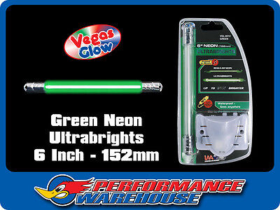 Vegas Glow Ultrabrights 6 Inch Neon Green Pulses To Music Car Ute Boat