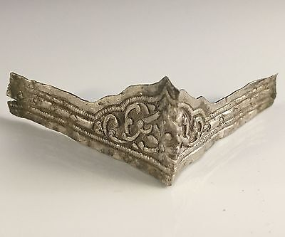 VERY RARE Ancient Roman Solid Silver Diadem With Very Fine Decorations 6/7th Cen