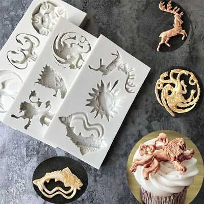 Game of Thrones Silicone Chocolate Cake Cookie Cupcake Soap Molds Mould DIY