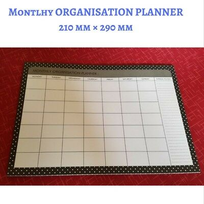 Monthly Organisation Planner - Things To Do - OFFICE - School - 210 mm × 290 mm