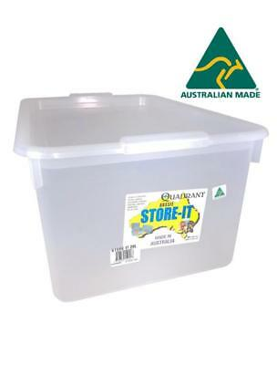 2x 20L Clear Plastic Storage Box w Lid  Storage Containers Tubs Australia Made
