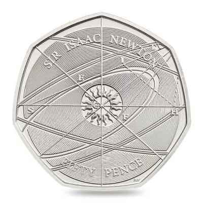 SIR ISSAC NEWTON 50p UNCIRCULATED FROM SEALED BAG