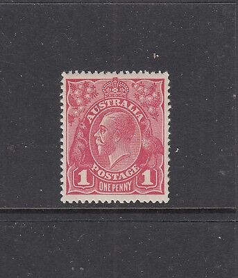 SINGLE WATERMARK: 1d Red Smooth Paper SG 21c, very well centred MVVVVLH.