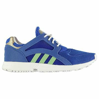 Adidas Racer Lite Trainers Juniors Blue/Yellow Sports Shoes Sneakers Footwear