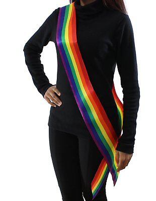 Zac's Alter Ego® Rainbow Sash Ideal for Gay Prides