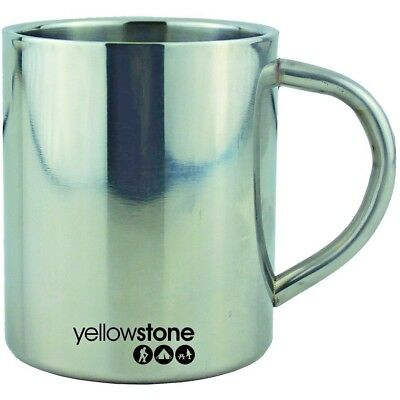 Yellowstone 300ml Stainless Steel Double Wall Camping Festival Mug CW031