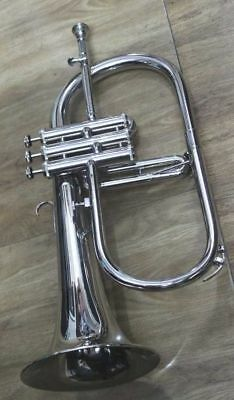 FLUGEL HORN 3 V Bb CHROME PLATED WITH BAG M/ P FAST SHIPPING