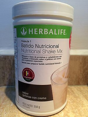 Herbalife Formula 1 - 550g flavor Cookies with Cream! FREE SHIPPING (EXP 01/19)