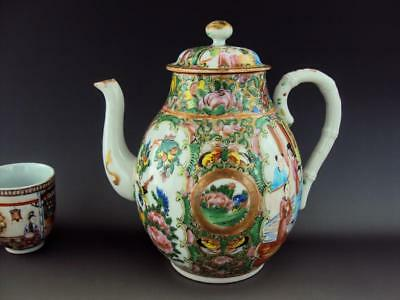 STUNNING Chinese Porcelain Famille Rose Teapot Oriental Antiques
