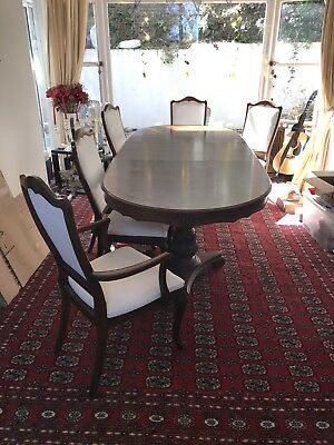 Replica Antique Dining Table Extendable With Free 8 X Chairs