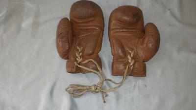 Vintage Pair of Leather Boxing Gloves With Laces-