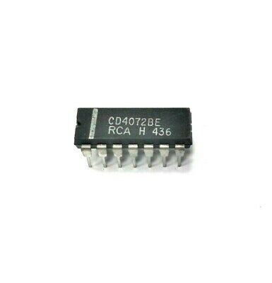 RCA SK4072B - Dual 4-Input OR Gate 14-Lead DIP CMOS IC, NOS