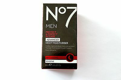 No7 For Men Protect & Perfect Intense Advanced Night Moisturiser - 50ml
