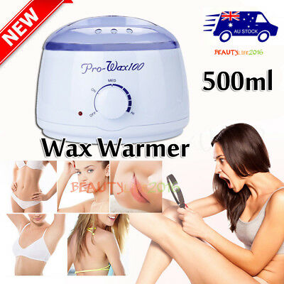 AU Wax Warmer Paraffin Pot Heater Hair Removal Salon Beauty Waxing Equipment Set