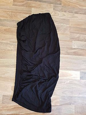 ASOS Materntity Black Stretchy knee length - long skirt, Size 6 / US 2