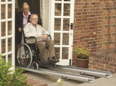 Mobility Care Telescopic Channel Ramps - Pair (Choose Your Size)