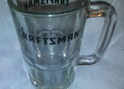Craftsman Tools Heavy Glass Beer Drink Mug Stein with Handle