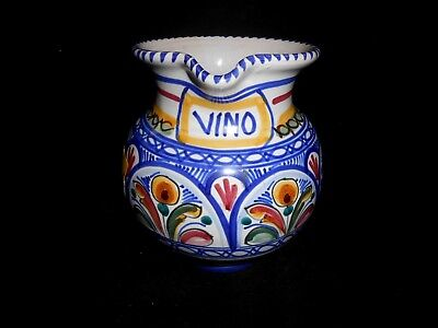 """Small Vintage Pottery Vino Wine Jug Pitcher 6 1/2"""" H x 6"""" Wide $319.00 Sears"""