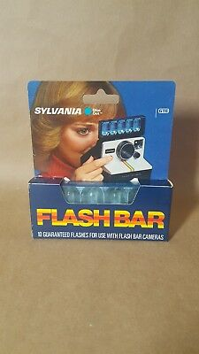 Flashbar flash bar for Polaroid SX70 Land Camera Sylvania Blue Dot new never use