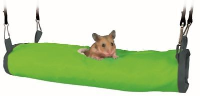 Trixie Nylon Cuddly Tunnel Hamster Hanging Cage Den Bed Toy Fleece Lined 6267