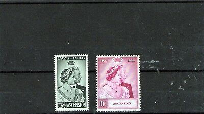 Royal Silver Wedding Ascension Island Mint Stamps Cat Val £50