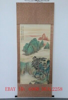 Large CHINESE Watercolor Painting Hand-Painted Landscape On Silk FG63