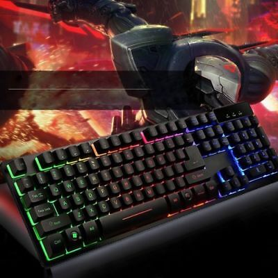 TASTIERA GAMING LED KEYBOARD RETROILLUMINATA multicolor rgb PC COMPUTER USB