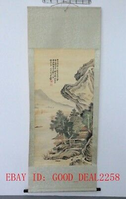 Large CHINESE Watercolor Painting Hand-Painted Landscape On Silk FG62