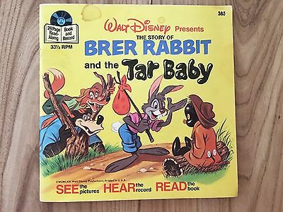 Brer Rabbit Tar Baby Record LP Disney Book Story Songs See Hear Read