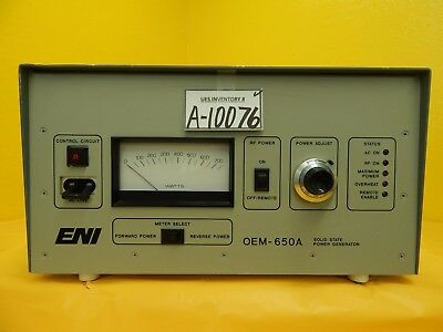 OEM-650A ENI OEM-6A-11491-51 Solid State Power Generator Not Working As-Is
