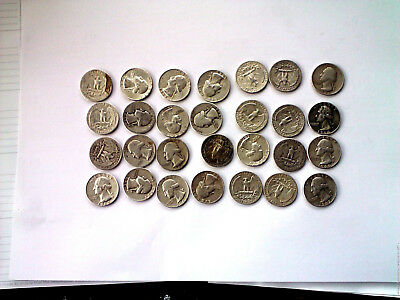 $1 Face Value Washington Quarters 90% Silver (Lot Of 4 Coins) Free Shipping